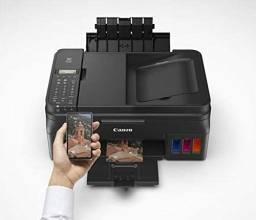 Impressora Multifuncional Canon PIxx MaxxTinta G4100 Tanque de Tinta Colorida Sem Fio
