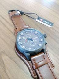 Relógio Curren 8225 Masculino Importado Luxo Social Couro Original