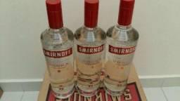 Caixa de vodka sminorff e orloff 12 unidades