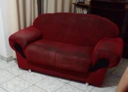Vendo sofá usado 2 e 3 lugares