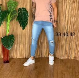 Calças jeans com lycra masculina
