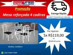 Mesa 4 cadeiras 110x80cm Nova