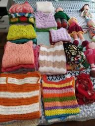 Lote de roupas de crochê