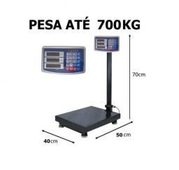 Balança digital até 700 kg plataforma com bateria recarregável nova na cx entrego