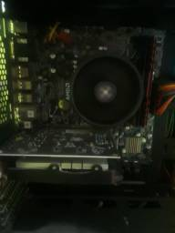 Processador Ryzen 5 2400g com Cooler box + Placa mãe Asus Prime A320m - k /br