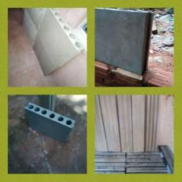 Trabalhamos com blocos de gesso e cimenticio e peças 3d