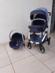 Carrinho de BB dzieco Maly + BB conforto Galzerano com adaptador para o carrinho