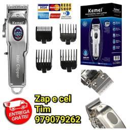 Máquina para corta cabelo Kemei Km-2002 Sem Fio Profissional