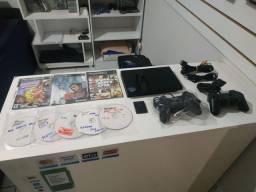 PS2 Slim Seminovo com Jogos .. Garantia !!!