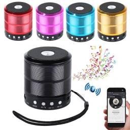 Caixa de som bluetooth e radio fm WS-887