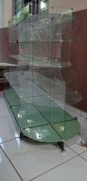 Vitrine de vidro centro