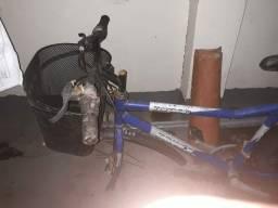 Quadro de bicicleta  aro 26 com Paralamas bagageiro e cestinha