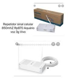 Repetidor de sinal celular 850mhz Rp870 Aquário Voz 3g Vivo