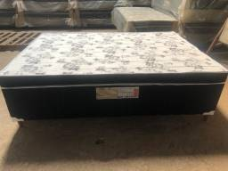 Cama box casal - Pé de madeira espuma selada acolchoada pronta entrega D28