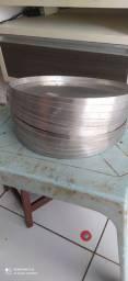 Forma de Pizza 35cm em Alumínio - AAL<br><br>