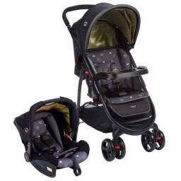 Carrinho de Bebê Travel System Nexus Preto - Cosco<br><br><br>Com bebê conforto