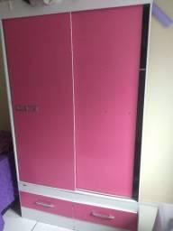 Guarda roupa porta de correr duas portas duas gavetas