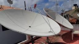 Instalador de antenas profissional antena parabólica banda c /ku