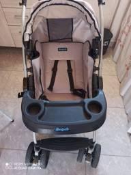 1de5<br><br>Carrinho de Bebê Passeio Burigotto Travel System-AT6 K Reclinável 4 Posições