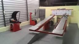 Alinhador Laser, Rampa, kit cambagem, Desmontadora e Balanceadora de pneus