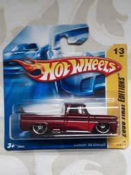 Miniatura Carrinho Hot Wheels Pickup Caminhonete GM Custom 62 Chevy