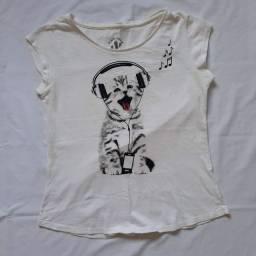Blusa gatinho
