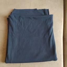 Tecido canelado ribana preto