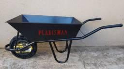 Carrinho Pedreiro Reforçado 70L com pneu e camara de ar Pladsman
