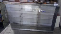 Balcão Expositor com 12 nichos (vidro transparente)