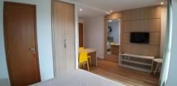 Apartamento 1/4 Mobiliado Alto Padrão em Apart Hotel