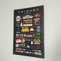 Quadro para decoração da série Friends