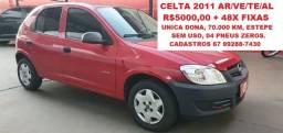 Celta 4p Ar/VE/TE/Alarme/Som  1.0 2011 4p C/ar Unica Dona