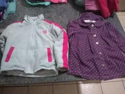 Blusa jaqueta camiseta manga longa infantil