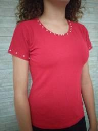Blusas feminina com pérolas cores variadas.
