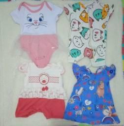 Lote de roupa bebê menina