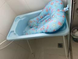 Banheira com almofada de banho 100,00