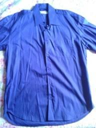 Camisa social manga curta e longa variada em poliester ou algodão - Tam. GG