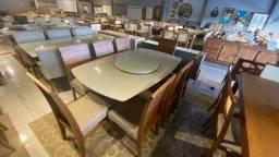 Título do anúncio: Mesa de jantar de 6 lugares madeira
