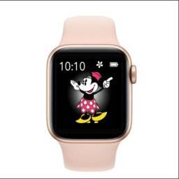 Smartwatch Iwo 13 Pro 44mm Rosa Novo na Caixa + Viseira de Brinde