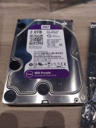 HD 2 TB WD Purple Intelbras