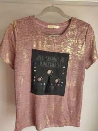 Camiseta nova rosé