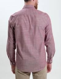 Camisa social chambray