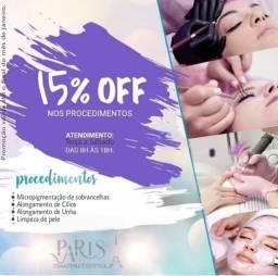 Promoção 15% OFF na Paris Esmlateria e Estética