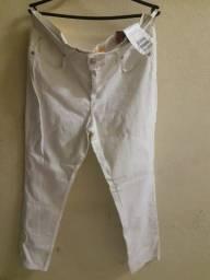 Calça branca com lycra feminina tam 46/48