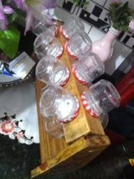 Porta tempero de vidros pra sua cozinha