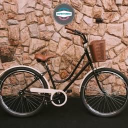 Bicicleta Feminina Samy Vintage Aro Aero c/ ou s/ Macha