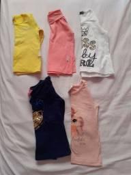 Camisetas manga longa, tamanho 1