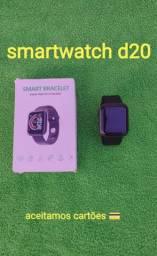 Smartwatch D20 cor preta ( aceitamos cartões ? em 2 vezes sem juros.)