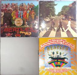 4 LPs Beatles- Peppers, Abbey, White e Magical