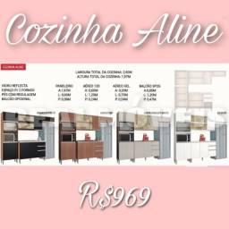 Título do anúncio: ARMÁRIO ARMÁRIO DE COZINHA ALINE ( aéreo e de pé)